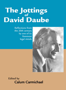 cover art of Calum Carmichael's The Jottings of David Daube