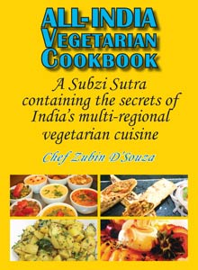 cover art of Chef Zubin D'Souza's All-Indian Vegetarian Cookbook
