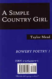 cover art of Taylor Mead's A Simple Country Girl