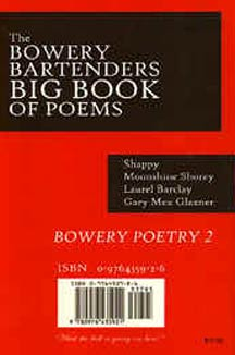 cover art of The Bowery Bartenders Big Book of Poems